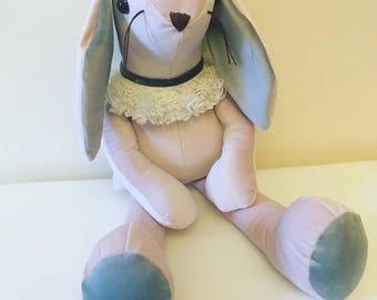 Baby pink Velvet bunny ... velveteen rabbit