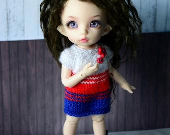christmas dress for pukifee bjd dolls sweater