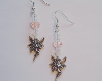 Fairy Earrings with Swarovski Crystals