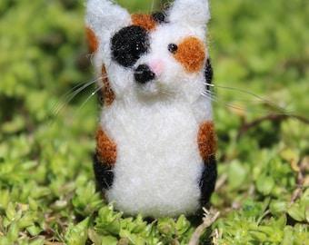 Handmade Needle Felted Cat