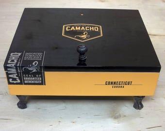 Camacho Corona  Cigar Box Valet Desk Valet and Jewelry Box