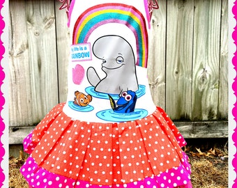 girls Finding Dory Nemo dress 3T 5 5t and 6 ready to ship