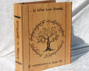 Guest book wooden personalized wedding custom