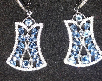 CLEARANCE *Blue Topaz and Sterling Silver Earrings