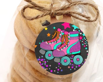 Roller Skating Party Favors Cupcake Toppers - Cupcake Decorations Roller Skating - Skating Cupcake - Instant Download #DPI761191