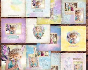 10x10 Fairy Album Template -Press Printed Album