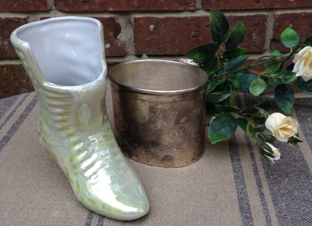 Lusterware boot vase ceramic boot planter luster ware vase zoom reviewsmspy
