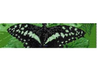 Peyote Bracelet Pattern Citrus Swallowtail Butterfly