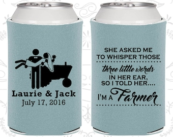 She Asked me to Whisper,Those three little words in her ear,so I told her I am a farmer,Country Wedding Favors,Farm Wedding Favors (544)