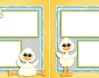 Silly Goose  - Digital Scrapbook Quick Pages - INSTANT DOWNLOAD
