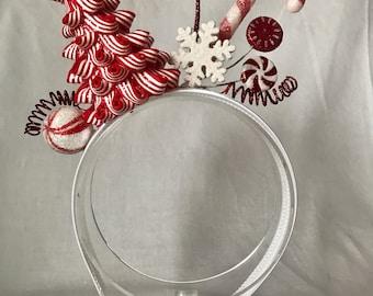 Peppermint Christmas headband, Christmas headband adult, whoville headband, tacky Christmas headband, Christmas hair accessories,