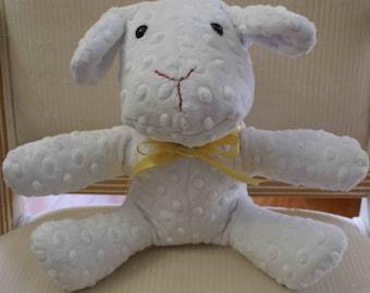 White bunny - yellow ribbon