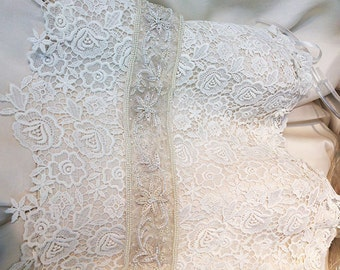 Bridal Beaded and Embroidered Trim