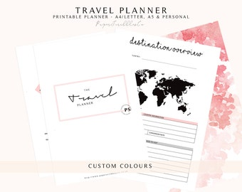 Travel Planner, Printable Vacation Planner, Trip Planner, Vacation Organizer, Holiday Planner, Travel Journal, Printable Planner