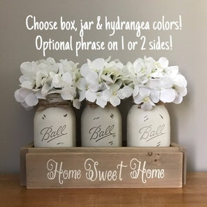 Rustic Table Centerpiece Neutral Toned Mason Jar Centerpieces Dining Room Decor Home Sweet Country