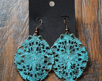 Turquoise Medallion Earrings