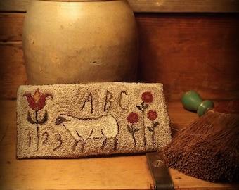 E Pattern Folk Art Sheep Punch Needle