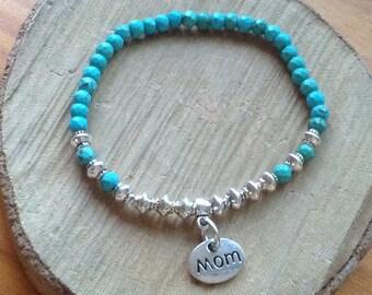 Mama bracelet, Mom, crystal breast beaded bracelet, crystal mom bracelet, mom bracelet, mother Day