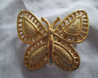 "CORO gold Butterflybrooch pin measures 1 3/4""x 2"""