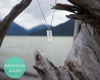 Silver Tree Necklace, Pine Tree Silver Necklace, Natural Jewelry, Forest Necklace, Adventure Jewelry, Summer Accessories, Gifts Under 75