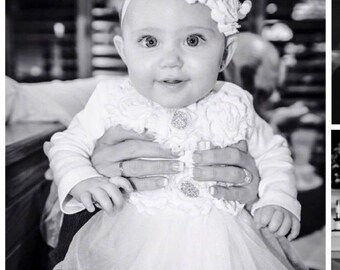 White tutu outfit...baby tutu..Baptism outfit..White tutu...baby girl outfit