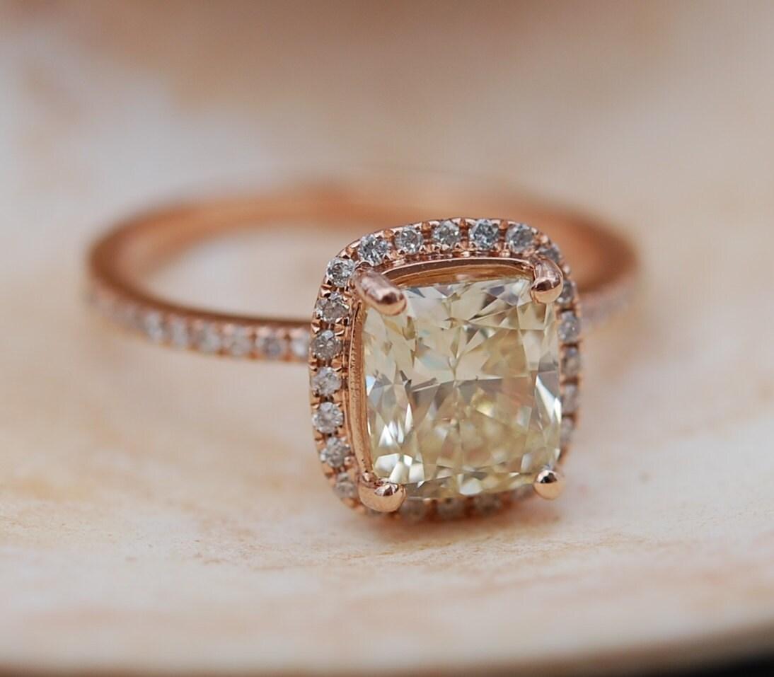 Yellow Diamond Engagement Rings 2ct VVS2 Jasmine Yellow