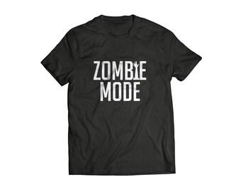 Zombi T shirt funny tee inspirado en zombis caminando muerto tv serie tv show camiseta zombies muertos vivientes muestra zombie divertido tee el modo Zombie