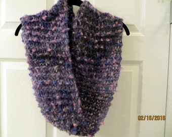 Lavender Mohair Blend Infinity Scarf