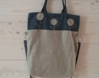 Linen and jeans bag