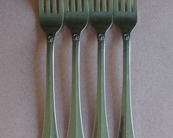 Lifetime Cutlery Stainless Flatware, 4 Dinner Forks, Unknown Pattern flare tip fork