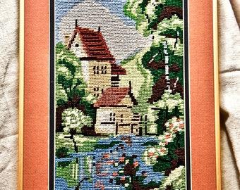 Original Oriental Needlework Vintage Signed LI '81