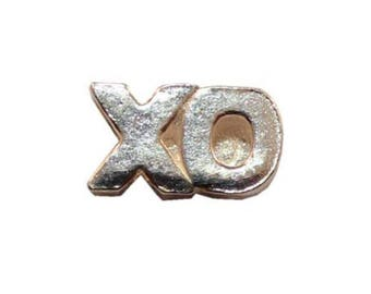 Sterling Silver Love XO Beads Hugs and Kisses XO Charm for your necklace or earrings 3pcs