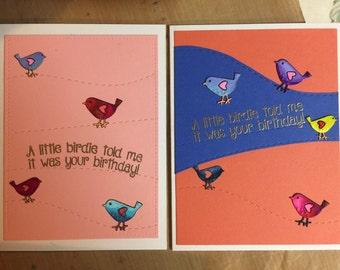 Birthday card set of 2
