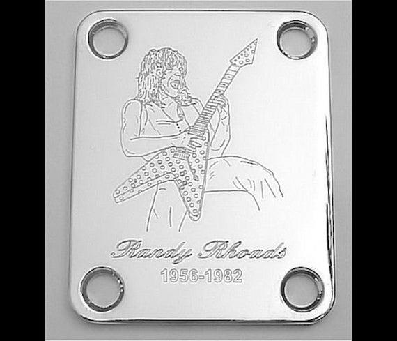 guitar parts neck mounting plate custom engraved etched. Black Bedroom Furniture Sets. Home Design Ideas