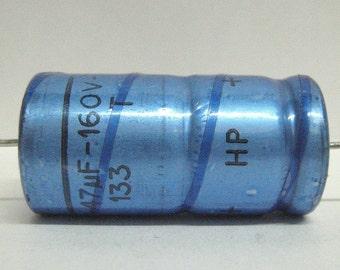Electrolytic vintage capacitor 47uF 160V
