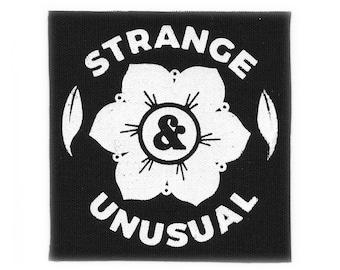 Strange & Unusual // Screen Printed Patch