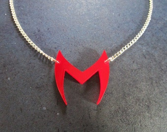 Scarlet Witch Emblem Logo Pendant Necklace Inspired by Costume Head Piece - Wanda Maximoff