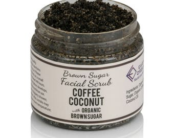 Coffee Coconut Facial Scrub | Homemade, Organic, All-Natural Sugar Scrub made without chemicals or preservatives