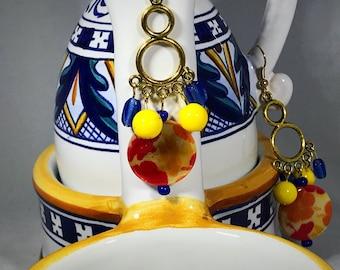 Sicilian inspired chandelier earrings