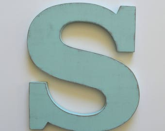 Large Wooden Letter  S - Custom Letters 24 Inch - Wedding Guestbook Letter