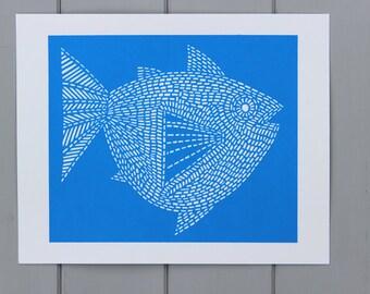 Fish Screen print