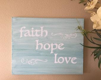 faith hope love canvas