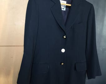 MOSCHINO | Cheap and Chic by Moschino | Vintage Jacket | navy jacket | wool jacket | 80s jacket