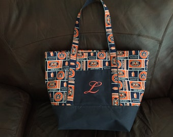 Embroidered College Tote Bag