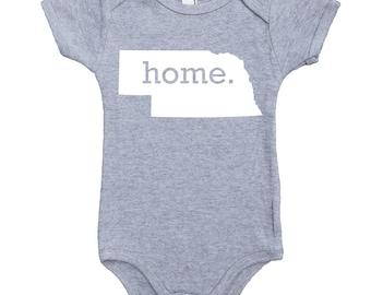 Homeland Tees Nebraska Home Unisex Baby Bodysuit