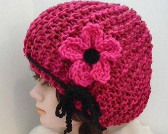 HAT KNITTING PATTERN , knit flower pattern, boy, girl, children, adult, men, women. num 939- beginner knit hat pattern