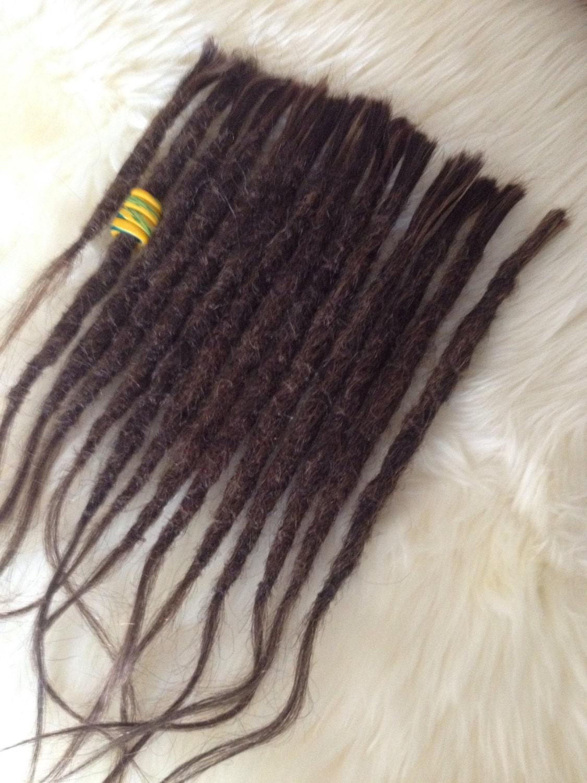 14 Natural Dreadlock Extensions Mixed Brown Blonde Real Human