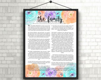 The Family Proclamation Print; Multicolor