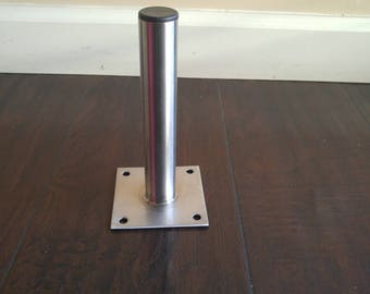 Steel Table Legs Quad Tube 3x3 Set Of 4