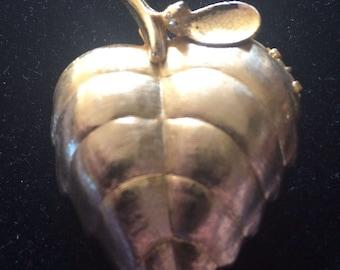 AVON Perfume Leaf Locket Brooch